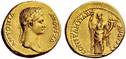 Roman coin - Antonia - Gold Aureus
